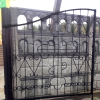 Ворота раcпашные кованые